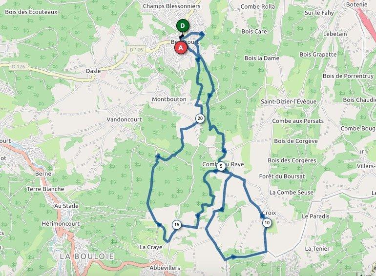 Parcours 23 km