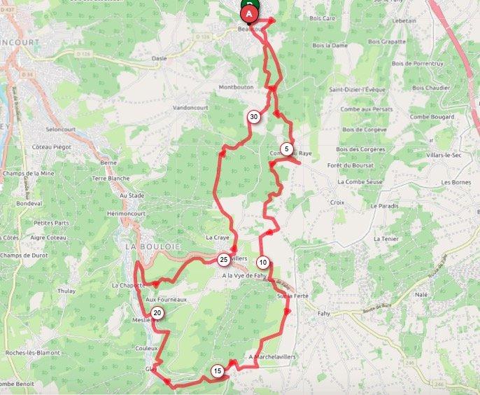 Parcours 33 km